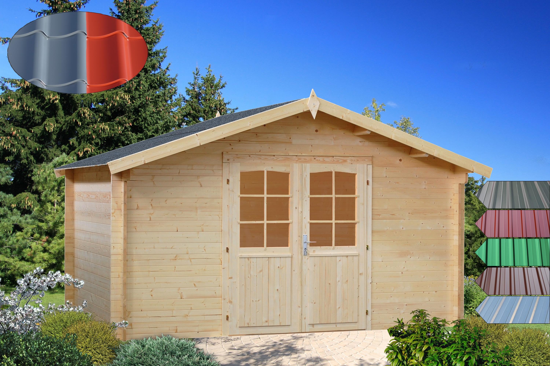Holz-Blech Gartenhaus Bremen 1